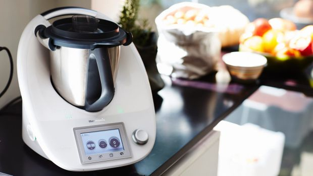Thermomix kitchen machines are sold during in-home demonstrations.