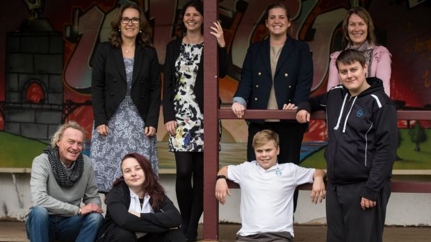 Setting off for Cambodia in July are students and staff from Campbell House School: (clockwise from left) Mark Hankin, ...