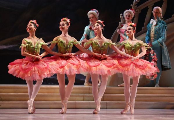 Ballerinas perform during a dress rehearsal of David McAllister's production of The Sleeping Beauty.