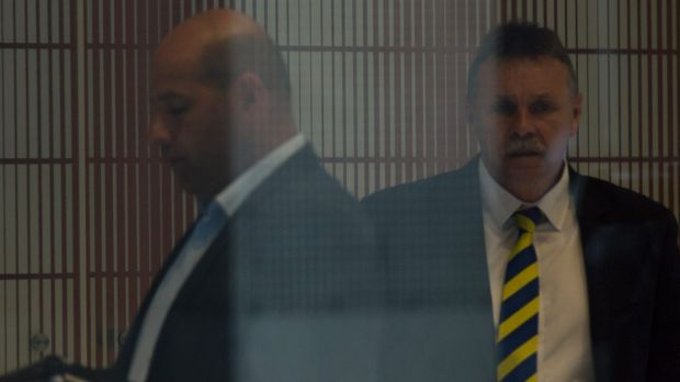 Eel not be back: Former Parramatta chairman Steve Sharp (right).