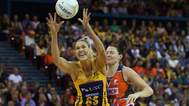 The Lightning's Caitlin Bassett starred in the grand final against the Giants.