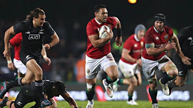 Out of the blocks:  Ben Te'o of the Lions breaks with the ball during the warm-up match between the New Zealand Maori ...
