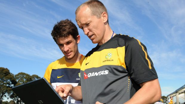Darren Burgess works with the Socceroos in Melbourne in 2010.
