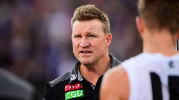 All of a sudden, in this ridiculously even AFL season, Nathan Buckley's coaching future at Collingwood doesn't look so ...