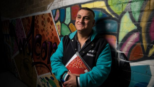 "Hekmat Alqus Hanna, a 50-year-old refugee from Iraq, is doing his HSC this year. ""I have to become a doctor again ..."