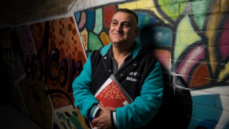"""Hekmat Alqus Hanna, a 50-year-old refugee from Iraq, is doing his HSC this year. """"I have to become a doctor again ..."""