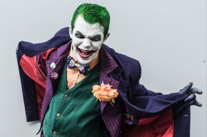 Supanova at Sydney Olympic Park. Pictured is Peter Stein as the Joker and works at a supermarket in Fruit and Veg by ...