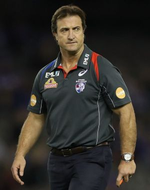 Disappointed: Bulldogs coach Luke Beveridge braces for more bad news on injury to luckless midfield star Lin Jong.