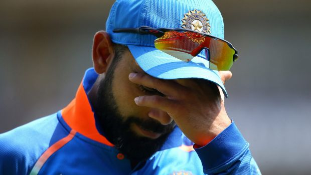 Heart broken: Virat Kohli of India looks on dejected during the ICC Champions Trophy Final.