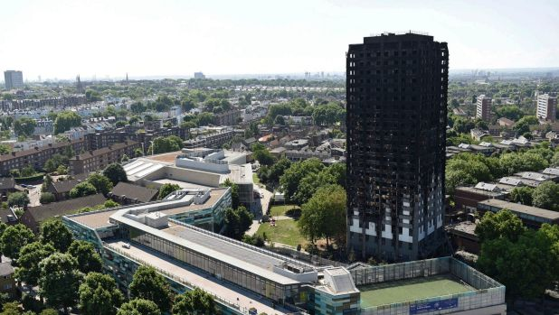 Grenfell Tower after the blaze.