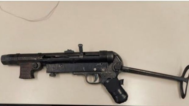 NSW Police found this submachine gun after they stopped a car on the Central Coast of NSW.
