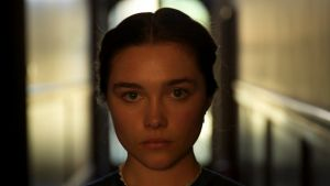 "Florence Pugh as Katherine in Lady Macbeth, ""the woman I think everyone kind of wants to be, except for the killer bit""."