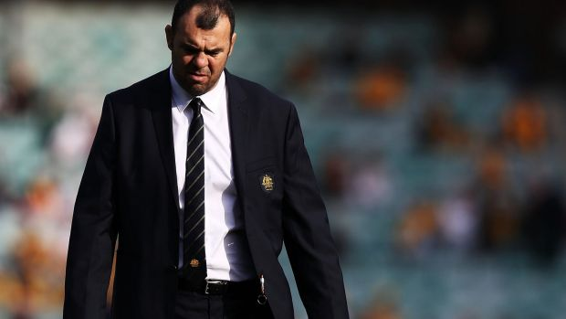 Tough times: Wallabies head coach Michael Cheika.