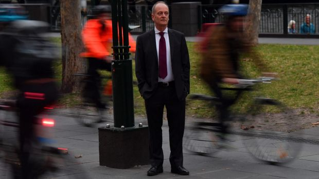 Southbank resident John Gigacz walks to work most days and regularly has issues with cyclists zipping past on the shared ...