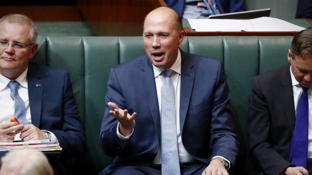 Immigration Minister Peter Dutton in Question Time on Monday.