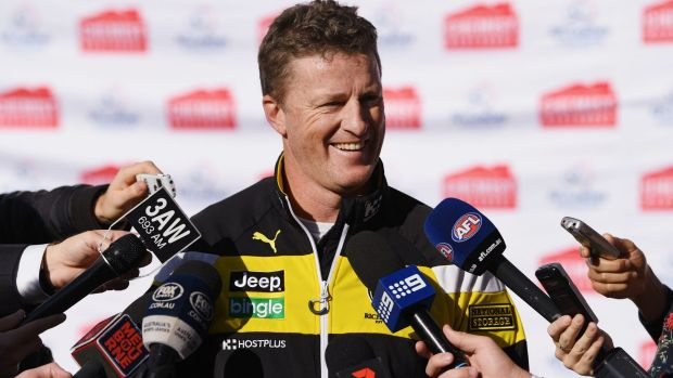 Richmond coach Damien Hardwick has made changes to his work load after a difficult year in 2016.