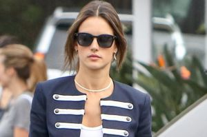 Alessandra Ambrosio does the Sergeant Pepper jacket.