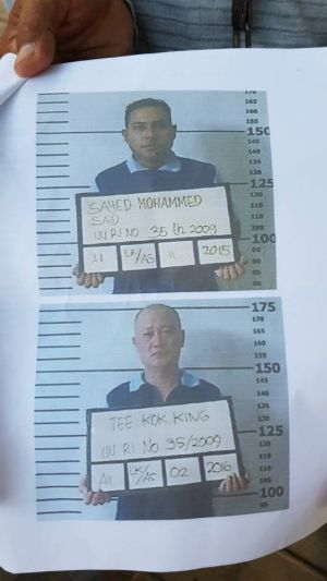 Sayed Mohammed Said, top, has been caughtm while Tee Kok King (bottom) is still on the run.