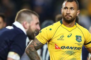 Disappointed: Quade Cooper after the Wallabies loss to Scotland.