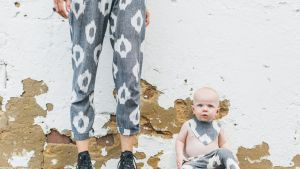 Carlie Ballard's Baby range uses the same organic hand-woven cotton as her womenswear line.