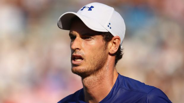 Murray looks dejected during the match.