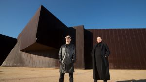 Melbourne Art Foundation CEO Maree Di Pasquale and chair Charles Justin on the Southbank site of the revamped Melbourne ...