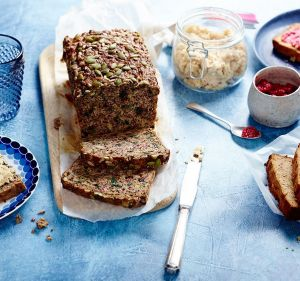 Paleo loaf and coconut bread.