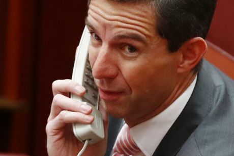 Minister for Education and Training Simon Birmingham during debate on the Australian Education Amendment Bill in the ...