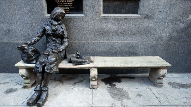 All the lonely people: the Eleanor Rigby Statue in Liverpool.