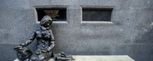 Liverpool, England - February, 2 2008: The Eleanor Rigby Statue in Stanley Street, Liverpool. This statue was sculptured ...