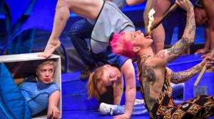 Contortion call:  Olivia Porter, Freyja Edney and Captain Ruin in Model Citizens.