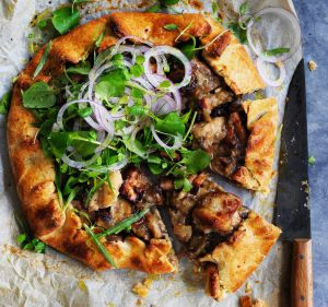 Freestyle: Adam Liaw's free-form chicken and mushroom pie.