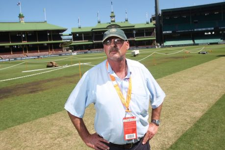 Stung by criticism: Retiring SCG curator Tom Parker.