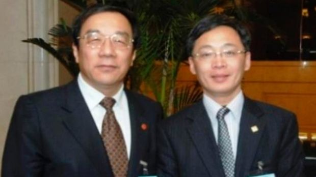 Yang Dongdong with Shanghai United Front Work Department chief Yang Xiaodu.