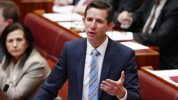 """Education Minister Simon Birmingham reminded universities of their """"legal obligations to provide a safe environment""""."""