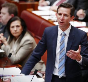 Education Minister Simon Birmingham was smiling on Friday after successfully negotiating the passage of the government's ...