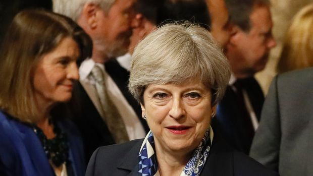 British Prime Minister Theresa May uses the email network targeted in the cyber attack.
