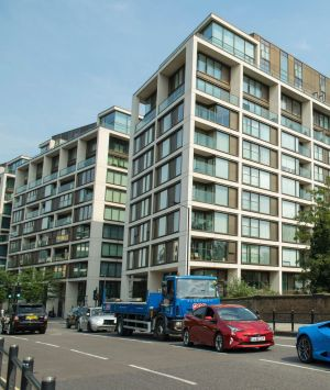 Spartments in the In a city with an affordable housing shortage: a new development planned, in Kensington, west London.