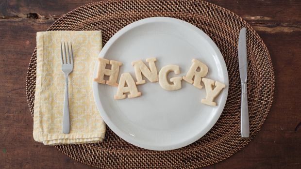 We don't want to wait until we are hangry to eat.