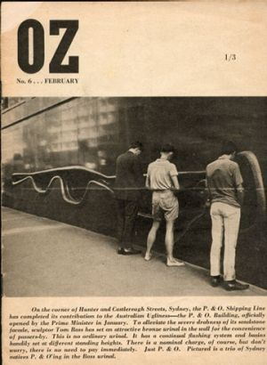 The 1964 cover of Oz magazine that led Richard Walsh and his fellow editors into trouble. Walsh is the sole survivor of ...