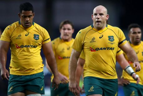 Recalled: Stephen Moore (right) and Scott Sio will start against Italy.