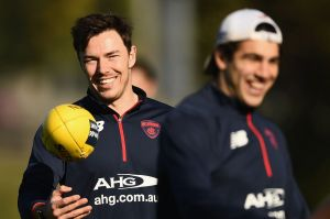 Happy days: Michael Hibberd is enjoying his footy again.