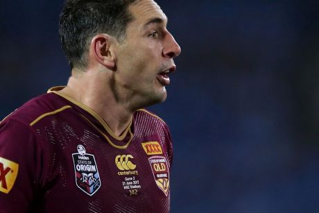 Ready for more: Billy Slater says another Origin series is a real possibility.