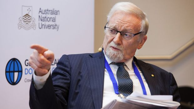Australian National University Chancellor Gareth Evans.