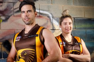 Siblings Matthew and Kathryn Ghirardello will play their 150th caps for the Tuggeranong Hawks this weekend. Photo: ...