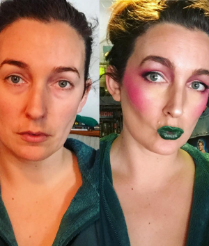 Clem B in her drag makeup