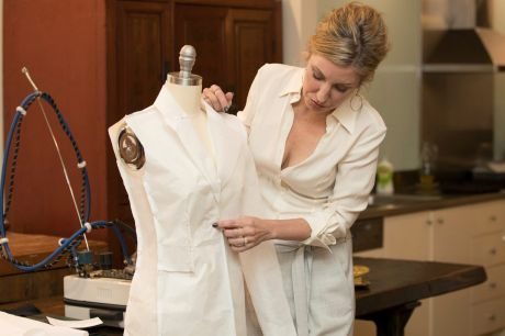 Julie Goodwin says many of her clients choose bespoke over designer labels as they don't want to appear showy.