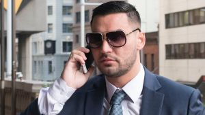 Salim Mehajer arrives at Downing Centre Local Court on Friday.