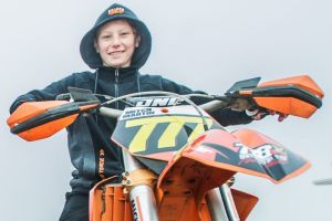 Dirt bike racers will compete in the Tharwa Sands Canberra Cup this weekend. (from left) Ian Hamilton and Mitch Martin. ...