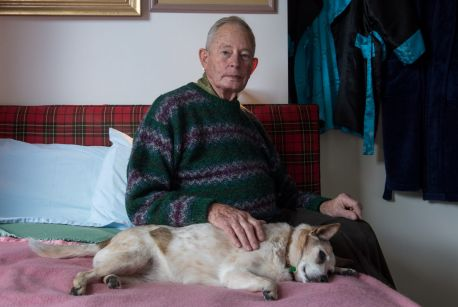 Geoff Richards, 80, is a former Aveo resident who is unhappy with his treatment.